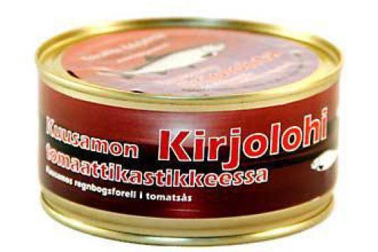 Kirjolohi tomaatissa 330 g ME: 6