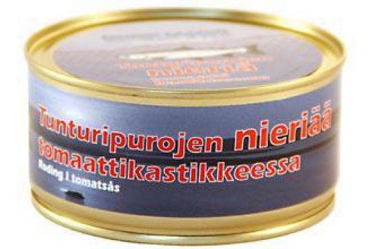 Nieriää tomaatissa 300 g ME: 6